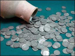 The treasure of Tamerlan's silver coins