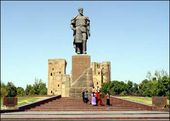 The Monument of Emir Temur in Shakhrisabz
